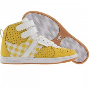 Creative Recreation Womens Dicoco (yellow / gingham / white / patent)