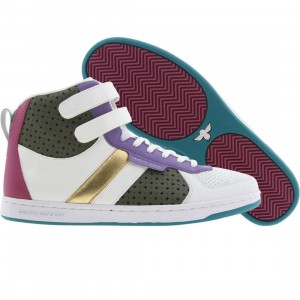 Creative Recreation Womens Dicoco (white / purple / military / fushia)