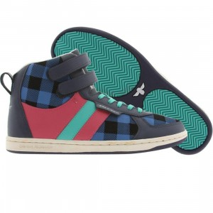 Creative Recreation Womens Dicoco (blue buffalo / hot pink / turquoise)