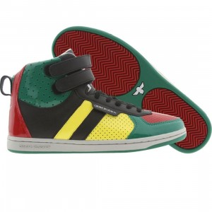 Creative Recreation Womens Dicoco (red / yellow / green patent)