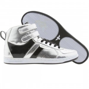 Creative Recreation Womens Dicoco (silver snake / black patent)