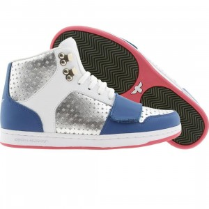 Creative Recreation Womens Cesario (blue / white / metallic silver / hot pink)