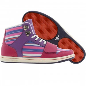 Creative Recreation Womens Cesario (grape / fuchsia / multi stripes)