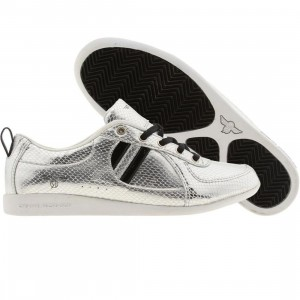 Creative Womens Recreation Galow (silver snake / black patent)