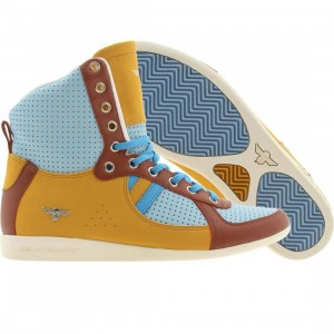 Creative Recreation Womens Galow High (sky / wheat / rust / blue)