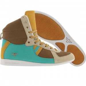 Creative Recreation Womens Galow High (sepia / aqua / khaki / wheat)