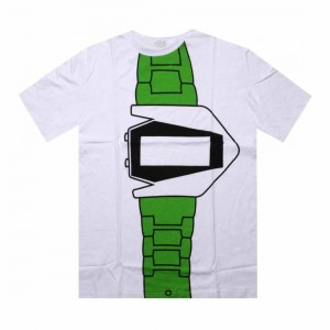 Dumb Watch Tee (white / green)