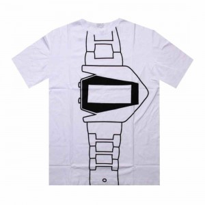 Dumb Watch Tee (white / white)