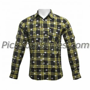 Dumb Woven Long Sleeve Shirt (yellow / black)