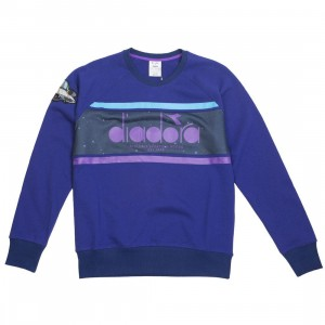 Diadora x Rick And Morty Men Intergalactic Crew Sweater (purple / blue)