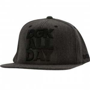 DGK All Day Chambray Snapback Cap (black)