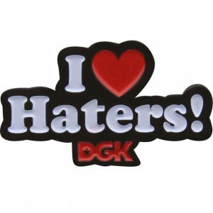 DGK Haters Pin (black / white / red)