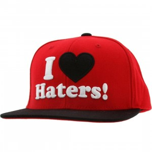 DGK Haters Snapback Cap (red / black)