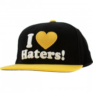 DGK Haters Snapback Cap (black / yellow)