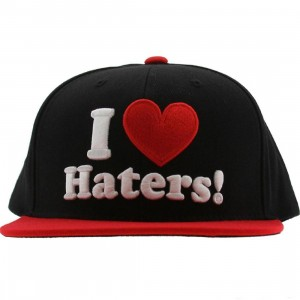 DGK Haters Snapback Cap (black / red)