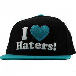 DGK Haters Snapback Cap (black / teal)