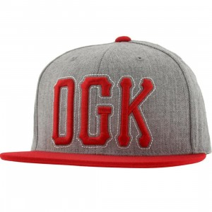 DGK Getters Snapback Cap (athletic heather / red)
