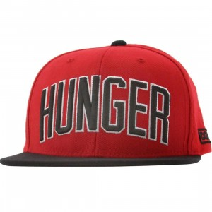 DGK Hunger Snapback Cap (red / black)