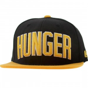 DGK Hunger Snapback Cap (black / yellow)