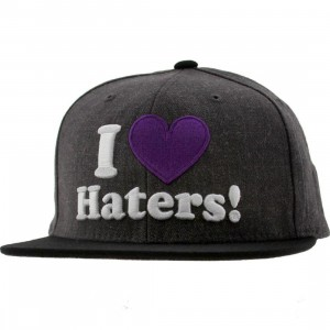 DGK Haters Snapback Cap (charcoal heather / black)