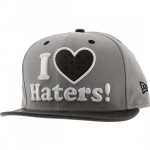 DGK Haters Ostrich New Era Adjustable Cap (grey)
