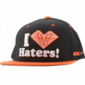 DGK x Diamond Supply Co Haters Snapback Cap (black / orange)