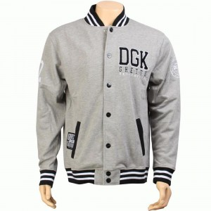 DGK Scholar Snap Up Fleece Jacket (athletic heather)