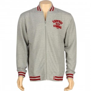 DGK Support Varsity Fleece Jacket (athletic heather)