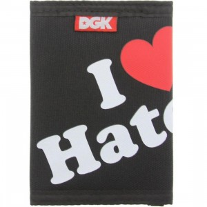DGK Haters Tri-Fold Wallet (black)