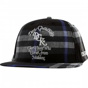 DGK From Nothing Plaid Snapback Cap (black)