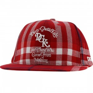 DGK From Nothing Plaid Snapback Cap (burgundy)
