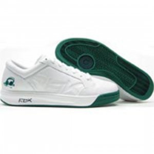 Reebok Big Kids DJ (white / team kelly green)
