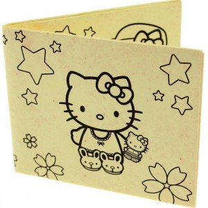 Hello Kitty DIY Tyvek Wallet (tan)