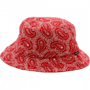 Deadline Paisley Bucket Hat (red)