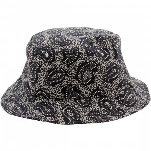 Deadline Paisley Bucket Hat (navy)