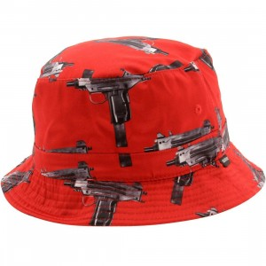 Deadline Uzi Bucket Hat (red)
