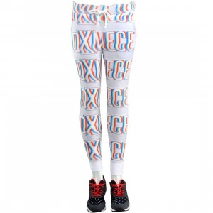 Dimepiece Women Blurred Logo Sweat Pants (white / multi)