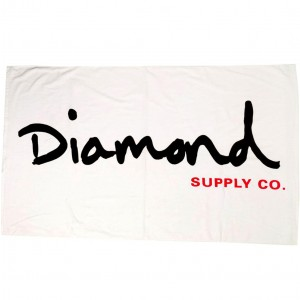 Diamond Supply Co Original Script Towel (white)