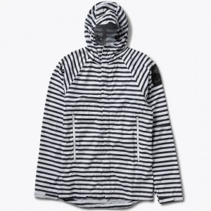 Diamond Supply Co Men Packable Westwind Storm Jacket (blue / navy stripe)