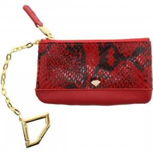 Diamond Supply Co Snake Chain Card Pouch Wallet (red)