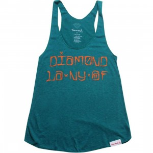 Diamond Supply Co Women Diamond Cities Tank Top (aqua)