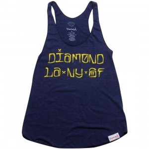 Diamond Supply Co Women Diamond Cities Tank Top (navy)