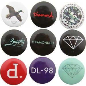 Diamond Supply Co Diamond Button Pack (assorted)
