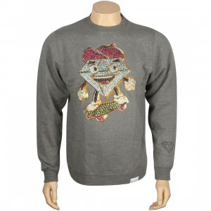 Diamond Supply Co x Ben Baller Lil Cutty Crewneck (gunmetal heather)