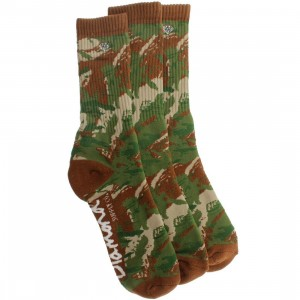 Diamond Supply Co 3 Pack OG Script High Cut Socks (camo) 1S