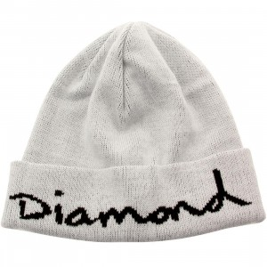 Diamond Supply Co OG Script Beanie (white)