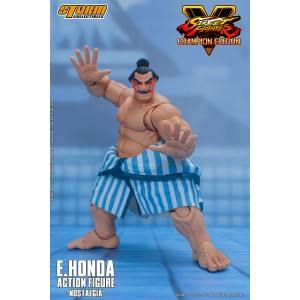 PREORDER - Storm Collectibles Street Fighter V E. Honda Nostalgia Costume 1/12 Action Figure (tan)