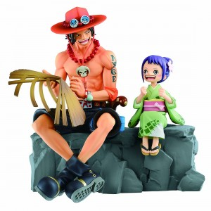 PREORDER - Bandai Ichibansho One Piece Emorial Vignette Ace And Otama Figure (tan)