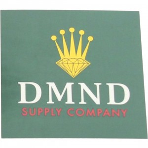 Diamond Supply Co Crown Sticker (green / white)