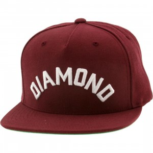 Diamond Supply Co Diamond Arch Snapback Cap (burgundy)